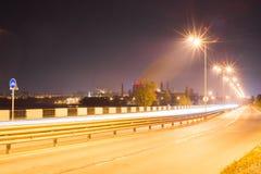 Izhevsk am Abend Stockbild