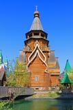 Izmailovo克里姆林宫在反对一清楚的天空蔚蓝的莫斯科俄罗斯 库存照片