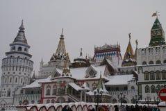 Izmailovo克里姆林宫在莫斯科,俄罗斯 图库摄影