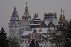 Izmailovo克里姆林宫在莫斯科,俄罗斯 库存图片
