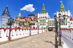 Izmailovo克里姆林宫在莫斯科,俄罗斯 免版税库存图片