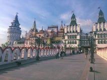 Izmailovo克里姆林宫在莫斯科 图库摄影