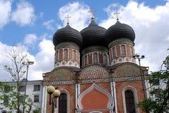 Izmailovo庄园建筑学在莫斯科 大教堂调解莫斯科红色俄国广场 图库摄影