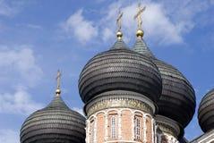 Izmailovo庄园建筑学在莫斯科 大教堂调解莫斯科红色俄国广场 免版税库存照片