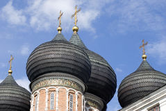 Izmailovo庄园建筑学在莫斯科 大教堂调解莫斯科红色俄国广场 库存照片