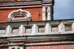 Izmailovo庄园建筑学在莫斯科 桥梁塔 免版税库存照片
