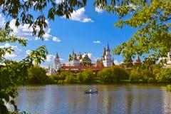 Izmailovo Κρεμλίνο και λίμνη - Μόσχα ρωσικά Στοκ φωτογραφίες με δικαίωμα ελεύθερης χρήσης