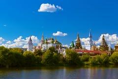 Izmailovo Κρεμλίνο και λίμνη - Μόσχα ρωσικά Στοκ Εικόνα