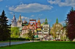 Izmailovo het Kremlin Stock Afbeelding