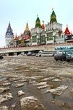 Izmailovo het Kremlin in de Februari-dooi Moskou, Rusland Stock Afbeeldingen