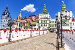 Izmailovo het Kremlin in Moskou, Rusland royalty-vrije stock afbeeldingen