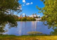 Izmailovo Kreml och sjö - Moskvaryss Arkivfoto
