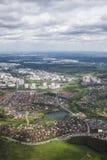izmailovo Kremlin jeziora krajobraz Moscow odbijający widok z lotu ptaka zachmurzone niebo Fotografia Stock