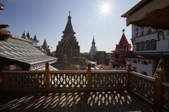 izmailovo kremlin moscow royaltyfria foton