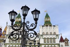 Izmailovo Kremlin in Moscow. Architecture of Izmailovo Kremlin in Moscow, historic place, Romanoff`s dinasty manor. Popular landmark and place for walking Stock Photography