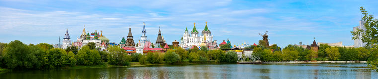 Izmailovo Kremlin. Panoramic views of the Izmailovo Kremlin, Moscow city, Russian Federation stock photography
