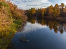 Izmailovo-Park im Herbst in Moskau, Russland stockfoto