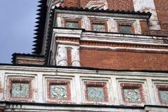 Izmailovo säteri i Moskva Brotorn som dekoreras av keramiska tegelplattor Royaltyfri Foto