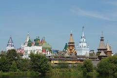 Izmailovo. View of the  Kremlin Royalty Free Stock Photo