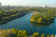izmailovomoscow park Arkivfoton