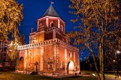 Izmailovskiy Island. The Bridge Tower. Autumn 2014. Russia. Moscow. Izmailovskiy Island. The Bridge Tower in the Evening Royalty Free Stock Photo