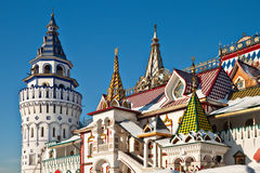 Izmailovskiy Kremlin in Moscow. Old-fashioned russian architecture Stock Image