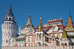 Izmailovskiy Kremlin in Moscow. Old-fashioned russian architecture Royalty Free Stock Photo