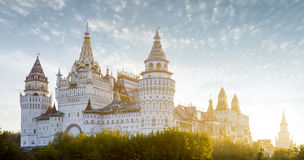 Izmailovsky克里姆林宫全景在莫斯科,俄罗斯 库存图片