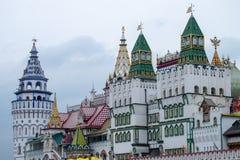 Izmailovsky克里姆林宫看法在莫斯科,俄罗斯 免版税库存照片