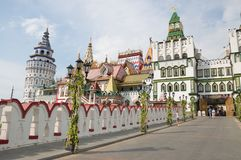 izmailovsky克里姆林宫 克里姆林宫在Izmailovo是其中一个最五颜六色和最有趣的城市地标,莫斯科,俄罗斯 库存照片