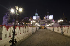 Izmailovsky Κρεμλίνο τη νύχτα στη Μόσχα, Ρωσία Στοκ Φωτογραφίες