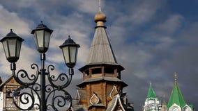 Izmailovsky el Kremlin el Kremlin en Izmailovo, Moscú, Rusia almacen de metraje de vídeo
