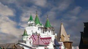 Izmailovsky el Kremlin el Kremlin en Izmailovo, Moscú, Rusia metrajes