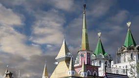 Izmailovsky el Kremlin el Kremlin en Izmailovo, Moscú, Rusia almacen de video