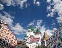 Izmailovsky het Kremlin het Kremlin in Izmailovo, Moskou, Rusland stock afbeelding