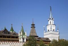 Izmailovsky het Kremlin het Kremlin in Izmailovo, Moskou, Rusland stock afbeeldingen