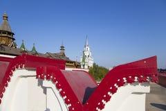 Izmailovsky het Kremlin het Kremlin in Izmailovo, Moskou, Rusland royalty-vrije stock afbeelding