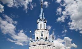 Izmailovsky het Kremlin het Kremlin in Izmailovo, Moskou, Rusland stock foto's