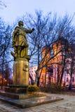 Izmailovsky Island. The Monument To Peter I. Autumn 2014. Evening. Russia. Moscow. Izmailovsky Island. The monument to Peter I. 1998. Sculptor L. E. Kerbel. The Royalty Free Stock Photo