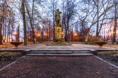 Izmailovsky Island.The Monument To Peter I. Autumn 2014. Evening. Russia. Moscow. Izmailovsky Island. The monument to Peter I. 1998. Sculptor L. E. Kerbel. The Stock Image