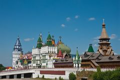 izmailovsky Kremlin Moscow Russia Fotografia Royalty Free