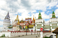 IZMAILOVSKY KREMLIN, MOSCOW, SPRING. Izmailovsky Kremlin whis cloudy sky. Moscow, Russia Royalty Free Stock Photo