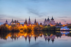 Izmaylovo Kremlin on sunset, Moscow Stock Photo