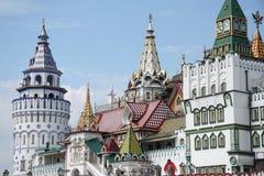 Izmaylovskiy Kremlin in Moscow, Russia. Izmaylovskiy Kremlin in Moscow, imitation of ancient Russian architecture Stock Photos