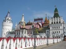 Izmaylovskiy Kremlin Moscow Rusia. Izmaylovksiy Kremlin in Moscow, Russia, wooden architecture Stock Photography