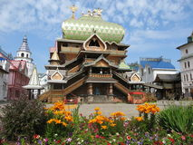 Izmaylovskiy Kremlin in Moscow Russia. Izmaylovskiy Kremlin in Moscow, Russia, famous tourist landmark, wooden palace Royalty Free Stock Images
