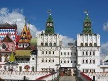 Izmaylovskiy Kremlin in Moscow Russia. Izmaylovskiy Kremlin in Moscow, Russia, wooden architecture, one of main landmarks Stock Photography