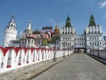 Izmaylovskiy Kremlin in Moscow Russia. Izmaylovskiy Kremlin in Moscow, Russia, wooden architecture Royalty Free Stock Photography