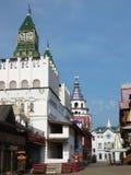 Izmaylovskiy vernisage (Izmaylovo) in Moscow. Wooden architecture Royalty Free Stock Photos