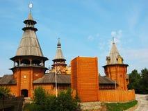 Izmaylovskiy vernisage in Moscow. Izmaylovskiy vernisage (Izmyalovo) in Moscow, wooden architecture Royalty Free Stock Photography